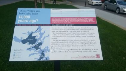 sign explaining the geology of Madison